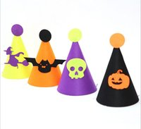 Halloween Party Supplies Bambini Panno Cloth Hat Zucca, Bat, scheletro, bar della strega Nightclub Decorazione di Halloween Mostra puntelli
