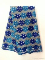Wholesale Heavy Lace African Fabric Wholesale - blue net guipure lace fabric French lace African heavy printed Cord Lace Fabric for wedding dress fashionable