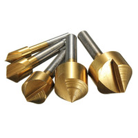 Wholesale Drill Press Drilling - 5pcs 6 10 13 16 19mm Titanium Countersinks Chamfering Cutter Drill Press