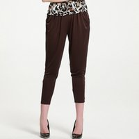 Wholesale Silk Harems - Thin female middle-aged mother with loose silk 100% silk silk, Haren long casual pants, nine point little feet pants Greater elasticity
