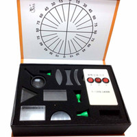 Wholesale Experiment Kit - Wholesale-Physical Science Optical Experiments KIT Triangular Prism Convex Lens Concave Mirror Fisica Student's Optics Physics
