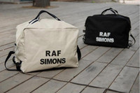 Wholesale canvas prints free shipping for sale - Group buy 2017 wholesales New Unisex Women Canvas Shoulder Bag Handbags Totes Men Raf Simons Printing Free Drop Shipping