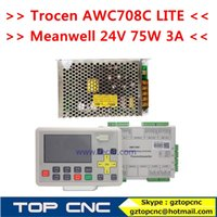 Wholesale Co2 Laser Supplies - Trocen AWC708C LITE CO2 laser controller and Meanwell 24v 75w 3A switch power supply