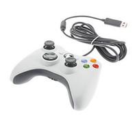 controlador do pc usb gamepad venda por atacado-Alta Qualidade USB Jogo Com Fio xbox 360 Controlador Gamepad Joypad Joystick Para Xbox 360 Slim Acessório PC Computador Portátil Embalagem de Varejo