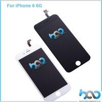 pantalla táctil digitalizadora galaxy s4 i545 al por mayor-Pantalla LCD de pantalla táctil Asamblea completa para Apple iPhone 6 6G 4.7 pulgadas Digitalizador Reemplazo Blanco Negro