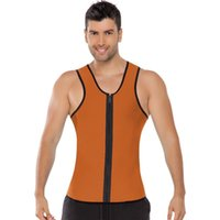 Wholesale Wholesale Sweat Suits Men - Hot sale Gym man sweating enhancing waist training corset cincher waist trainer sauna suit Sport vest hot shaper body slimming bodysuit