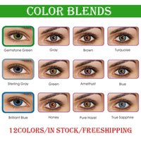 Wholesale Big Contacts - Free Shipping by DHL need 3-5 working days Ready Stock 3-tone fresh colorblend contact lenses Wholesale Color Contacts 1 pair = 2 pieces