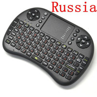 Wholesale Russian Keyboard For Tablet - Russian Keyboard Rii mini Air Mouse Remote Control Touchpad Handheld Keyboard UKB500 for TV BOX PC Laptop Tablet Mini PC