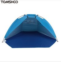 Wholesale Free Shelter - High Quality Outdoor Beach Tents Shelters Shade UV Protection Ultralight Tent for Fishing Picnic Park Free Shipping