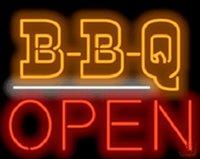 restaurante abierto luz de neón al por mayor-BBQ Abierto Letrero de neón Tubo de vidrio real Tienda de luz Restaurante Barbacoa Discoteca KTV Club Beer Bar Exhibición de anuncios Hecho a mano Muestra 30