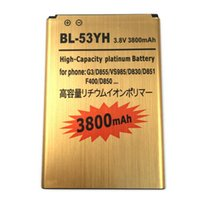 Wholesale 3800mAh High Quality Golden Replacement BL YH Battery For LG G3 F400 F460 D858 D830 VS985 D850 D851 D855 LS990 BL YH