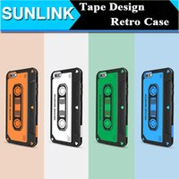 Wholesale Tape Cassette Back Cover - Nillkin MUSIC EAR Phone Case Retro Vintage Tape Cassette Shield Hard Back Cover 3D Patchwork Shell for Apple iPhone 6 6s Plus Retail Package