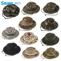 Camuffamento Bush Safari Pesca all'aperto Escursionismo Caccia Boating Snap Brim Hat Sun Cap
