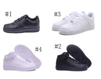 Wholesale Air F - White & Black AIR F ONE Men Women Caual Shoes Unisex Airs Massage High & Low AIRFORCE Leisure Shoes