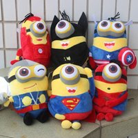 Wholesale Despicable Plush Soft Toy - Despicable me Minion Plush Toy The Avengers Spider man Batman Captain American Super Man Minion Stuffed Doll Soft Baby Toy wholesale