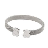 Wholesale Hot Selling Gifts - TL Silver Plated Stainless Steel Bear Bangle Bracelet 316L Hot Selling Classic Style Never Fade Gift