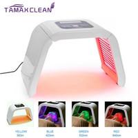 machines menées de rajeunissement de peau achat en gros de-LM004 MOQ 1PC 4 lumière LED masque facial PDT lumière pour machine de beauté de thérapie de peau pour le visage peau rajeunissement salon équipement de beauté