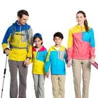 Wholesale Boys Rain Jacket - Wholesale-New Waterproof Jacket Mens Windbreaker Women Patchwork Hiking Jackets for Lovers and Jacket for Boys Girls Softshell Rain Jacket