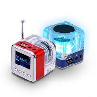 Wholesale Mp3 Player Sd China - Portable Mini Speaker Music MP3 4 Player Micro SD TF USB Digital Disk Speaker FM Radio LCD Display