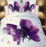 Wholesale Floral Quilt Red Orange - top 3D Flowers Reactive printing cotton 4 pcs bedding set duvet quilt cover bed sheet Pillowcase bedclothes Home Textiles AS1002