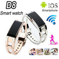 Wholesale Vibration Watch Phone - D8 Bluetooth Smart Bracelet Band Wireless Bluetooth Wrist Watch Caller Display Sync Phone Calls Vibration Alert Caller ID Time OLED Display