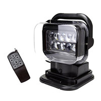 6500LM blacks farm - Black v v w º Cree LED Rotating Remote Control Work Light Spot for SUV Boat Home Security Farm Field Protection Emergency Light