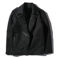 jaquetas estilo motocicleta venda por atacado-Jaquetas grossas dos homens novos da chegada Hip Hop Street Style Casaco de algodão masculino motocicleta jaqueta