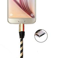 Wholesale Universal Zebra - Micro Cable Zebra Grain Braided Nylon High Speed USB 3.3ft Sync Data Cord for 7 6 plus Opp Bag