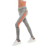 Wholesale hot girls yoga pants for sale - Women Lift Hip Long Pant Stitching Color Girls Quick Drying Sport Running Yoga Jogging Pant Gym Fitness Yoga Pant C4 New Hot