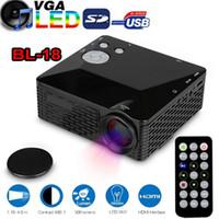 Wholesale video game education online - BL Mini LED Projector Lumen HDMI Full HD Portable Pico LCD Home Theater Multimedia AV VGA SD USB HDMI Video Beamer Games Proyector
