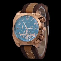 Wholesale Men S Blue Bracelet - Casual Mechanical Bracelet Electronic Fashion Quartz Designer Men 's gold square watch headband watch personality digital movement watch