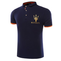 Wholesale Formal Shorts - Maserati Crown Polo Shirts Golf Slim Comfortable Designer Formal Polo Shirts with Cotton Blend for Men DT772