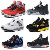 Wholesale Fear China - Cheap basketball shoes China Retro 4 Oreo fear Cement Sneaker Sport Shoe men and women hot Sale US size 8 - 13