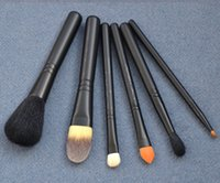 Wholesale Free Beauty Bag - MACcosmetics Look in a Box Brush Kit Basic 6 Pc + Neoprene Cosmetics Bag - Beauty Makeup Brushes Blender DHL Free