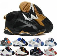 Wholesale Basket Fashion Men - 2016 New Fashion Retro 7 Women Men Basketball Shoes Real Sneakers Retro Replica Zapatos Mujer Homme Top Quality Shoes VII Size 36-47