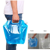Wholesale Wholesale Water Containers - 5L 10L Outdoor Foldable Folding Collapsible Drinking Water Bag Car Water Carrier Container for Outdoor Camping Hiking Picnic BBQ H210736