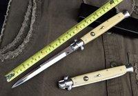 """Wholesale Fiberglass Siding - Promotion AKC Knife 13"""" Ivory White (Fiberglass Handle) 440C Steel Side Open Utility Outdoor Gear Knife Best Gift F20L"""