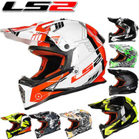 ls2 kapalı yol kaskları toptan satış-2016 Yeni LS2 off road motosiklet kask MX437 ABS profesyonel yarış motocross motosiklet kaskları boyut L XL XXL