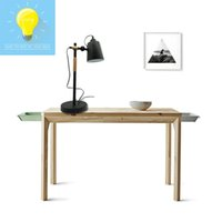 Wholesale Ikea Living Rooms - Dormitory IKEA bedside creative desk lamp iron wood simple bedroom modern living room decoration fashionable living room desk lamp table