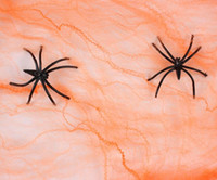 Wholesale halloween party decorations spider webs for sale - Group buy Hot Stretchy Spider Web Cobweb With Spider for Halloween Party Decoration
