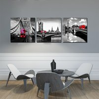 cartoon ben Australia - Wall decoration Unframed 3 Pieces Canvas Prints Big Ben London Double deck bus Dandelion Abstract tree flower fish butterfly tulips leaf
