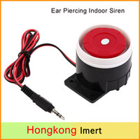 Wholesale Mini Siren Alarm - New Ear Piercing Indoor Siren Wired Mini Horne Siren Security Sound Alarm System 120dB DC 12V New