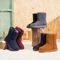 Wholesale Mid Calf Pointed Toe Boots - 2017 New Winter Warm Sanding Leather, Snow Boots, Breathable Anti Slip, Thickening Cylinder, Winter Boots, Snow Boots