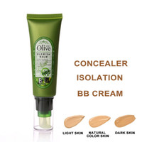 Wholesale Olive Face Cream - Brand Health Face Makeup Olive Repair BB Cream 50g Shrink Pores Brightening Concealer Moisturizing Foundation Easy To Wear