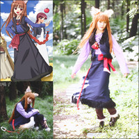 Spice and Wolf Horo Cosplay Costume spices costumes - Anime Spice and Wolf Horo Cosplay Costume Suit Cartoon Holo Cosplay Clothes Uniform for Girls Lolita Christmas Role Playing