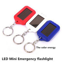 Wholesale 100 Hot sell mini explosion LED flashlight solar key chain flashlight Emergency yanchao necessary that occupy the home with a little light