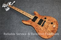 Custom 24 Paul Smith Guitar Finish Spalted Maple Top Natural électrique Black Pearl Birds Inlay Tremolo Black Bridge Hardware