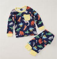 Wholesale Sets Boy Sport - Kids Dinosaur pajamas Long Sleeve 100% Cotton animal print Boys Pjs Toddler Cartoon Sleepwear Siut Girls Sports Clothing for Pyjamas Sets 1#