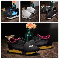 Wholesale D 35 - 2018 New Designer Kanye West Race Runner Casual Shoe Man Woman Classic Mesh Trainer Shoes Cheap Sneaker Couple Hot Selling Size 35-46