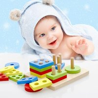 Wholesale Geometry Games - Wooden Toys Children Educational Puzzle Geometry Shape Intellige Learning Tools Toys & Games